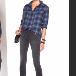 ASOS plaid flannel boyfriend button down shirt